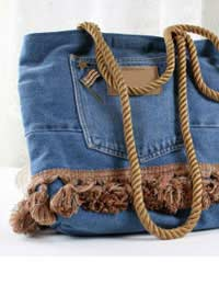 Bag Jeans Tote Denim Old Jeans Rug