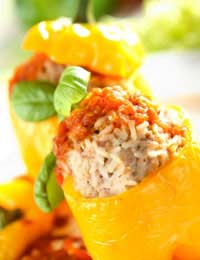 Leftover Rice Leftovers Stuffed Peppers